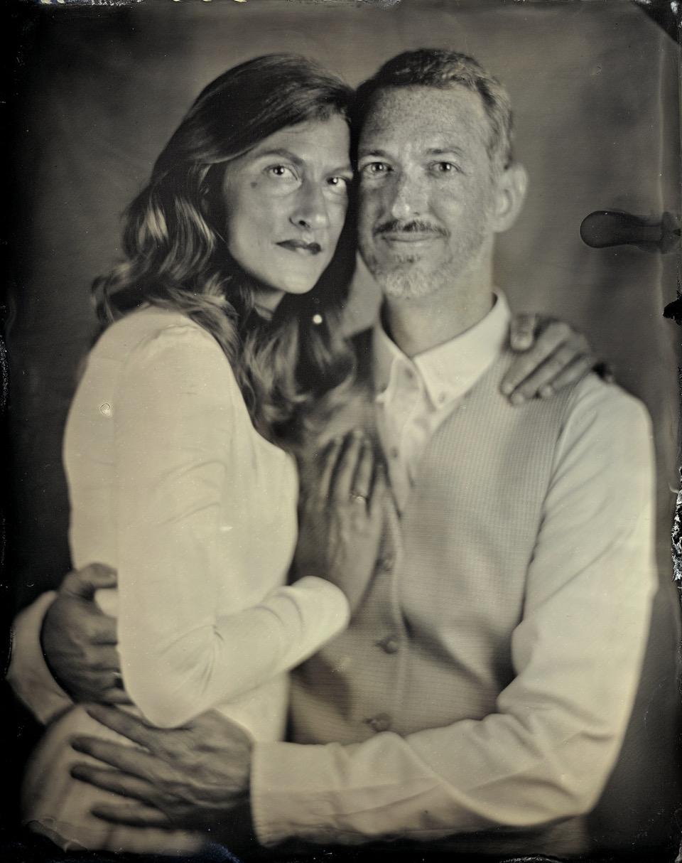 Portrait des mariés Genell et Laurent